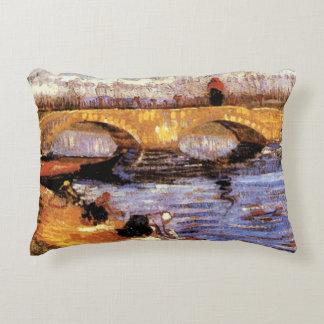 Van Gogh - The Gleize Bridge Accent Pillow