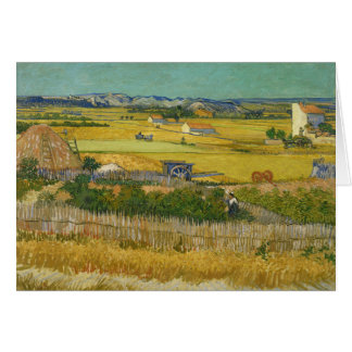 Van Gogh The Harvest Card