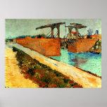 Van Gogh - The Langlois Bridge with Road Poster