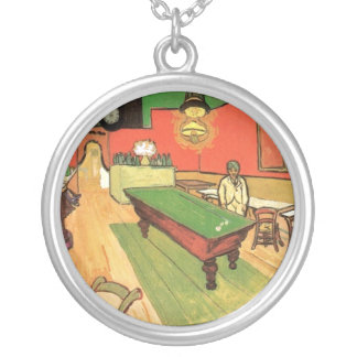 Van Gogh - The Night Cafe In Arles Round Pendant Necklace