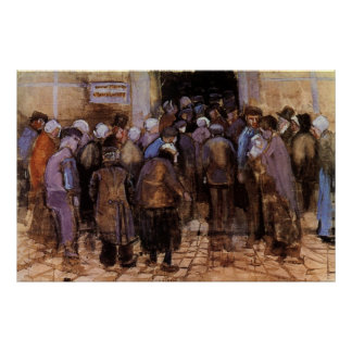 Van Gogh The Poor and Money, Vintage Impressionism Poster