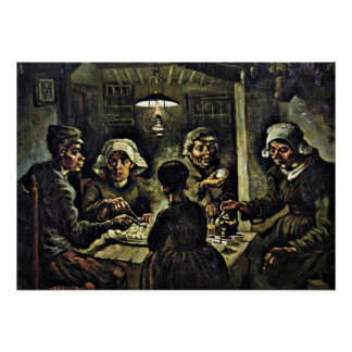 Van Gogh - The Potato Eaters Poster