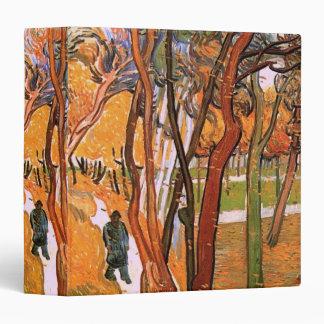 Van Gogh The Walk: Falling Leaves, Vintage Art 3 Ring Binder