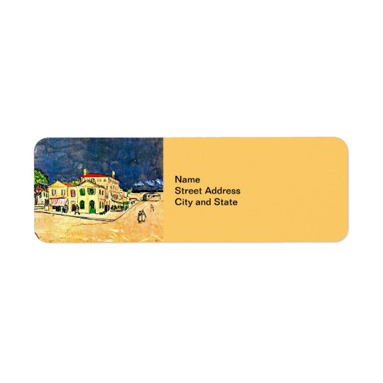 Van Gogh: The Yellow House (Vincent's House) Return Address Label