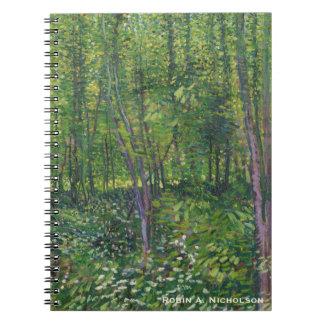 Van Gogh Trees and Undergrowth Personalized Notebook