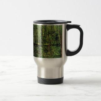 Van Gogh Trees and Undergrowth, Vintage Fine Art 15 Oz Stainless Steel Travel Mug