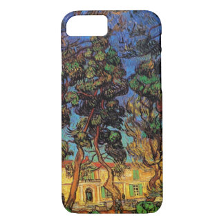 Van Gogh Trees in the Garden, Saint Paul Hospital iPhone 8/7 Case