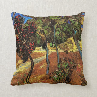 Van Gogh Trees in the Garden, Saint Paul Hospital Throw Pillow