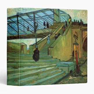 Van Gogh Trinquetaille Bridge, Vintage Fine Art 3 Ring Binders