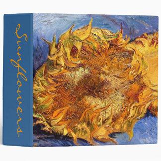 Van Gogh: Two cut Sunflowers Binders