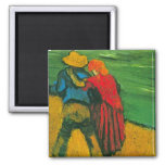 Van Gogh Two Lovers Square Magnet