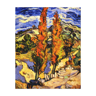 Van Gogh - Two Poplars on a Hill Canvas Print
