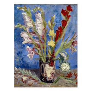 van Gogh Vase of Gladioli and Chinese Asters Postcard