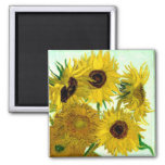 Van Gogh: Vase Twelve Sunflowers Vintage Fine Art Fridge Magnet