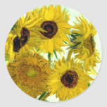 Van Gogh: Vase Twelve Sunflowers Vintage Fine Art Sticker