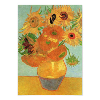 Van Gogh Vase with 12 Sunflowers, Flowers Fine Art Card