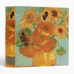 Van Gogh Vase with 12 Sunflowers, Flowers Fine Art Vinyl Binder