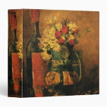 Van Gogh; Vase with Carnations, Roses and a Bottle Binders
