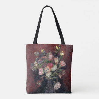 van Gogh Vase with Chinese Asters and Gladioli Tote Bag