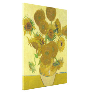 Van Gogh Vase with Fifteen Sunflowers GalleryHD Canvas Print