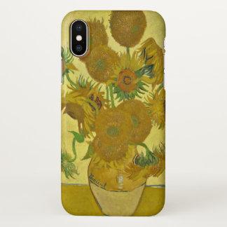 Van Gogh Vase with Fifteen Sunflowers GalleryHD iPhone X Case