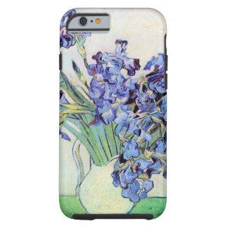 Van Gogh Vase with Irises, Vintage Floral Fine Art Tough iPhone 6 Case
