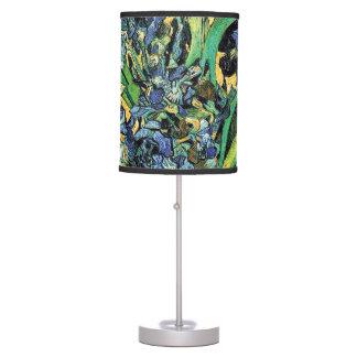 Van Gogh - Vase with Irises Yellow Background Table Lamp