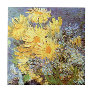 Van Gogh - Vase With Lilacs, Daisies And Anemones Tile