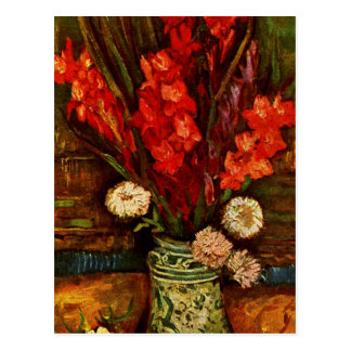 Van Gogh - Vase with Red Gladiolas Postcard