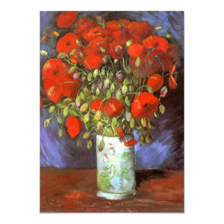 Van Gogh: Vase with Red Poppies Card