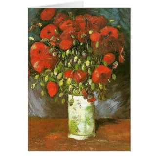 Van Gogh Vase With Red Poppies (F279) Fine Art Note Card
