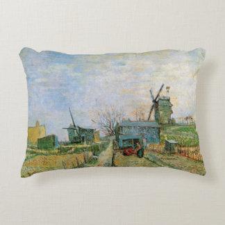 Van Gogh Vegetable Garden in Montmartre, Fine Art Decorative Pillow