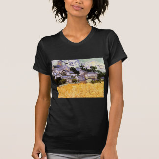 Van Gogh View of Auvers with Church, Fine Art T-Shirt