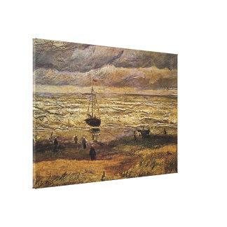 Van Gogh View of Sea at Scheveningen, Fine Art Canvas Print