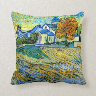 Van Gogh - View of the Church of Saint Paul Throw Pillow