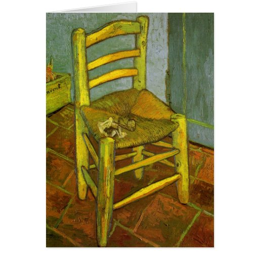 Van Gogh, Vincent's Chair With His Pipe Greeting Cards
