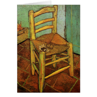 Van Gogh; Vincent's Chair with Pipe, Vintage Art Card