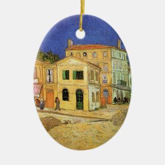 Van Gogh Vincent's House in Arles, Fine Art Ceramic Oval Ornament