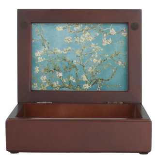 Van Gogh Vintage Old Painting Blossoms Flowers Keepsake Box