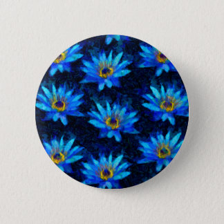 van gogh water lily blue 2 inch round button