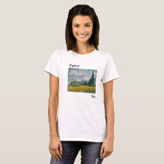 Van Gogh Wheat Field logo design art T-Shirt