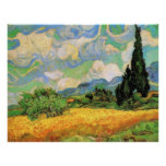 Van Gogh; Wheat Field w Cypresses at Haute Galline