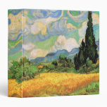 Van Gogh; Wheat Field w Cypresses at Haute Galline Vinyl Binder