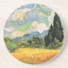 Van Gogh Wheat Field w Cypresses at Haute Galline Coaster