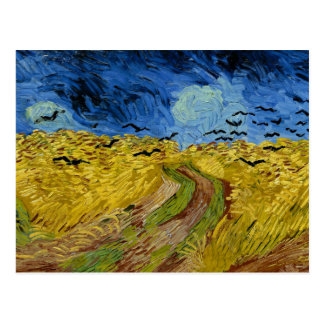 Van Gogh - Wheat Field with Crows Postcard