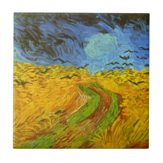 Van Gogh Wheat Field with Crows, Vintage Fine Art Ceramic Tiles