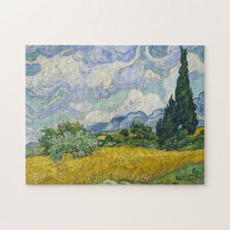 Van Gogh Wheat Field with Cypresses Jigsaw Puzzle