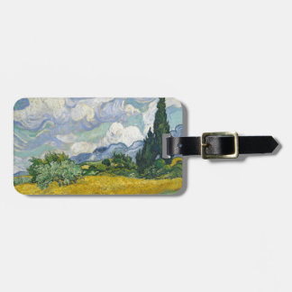 Van Gogh Wheat Field with Cypresses Luggage Tag
