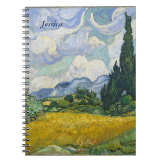 Van Gogh Wheat Field with Cypresses Notebooks