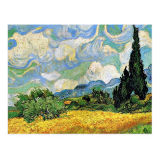 Van Gogh - Wheat Field with Cypresses Postcard